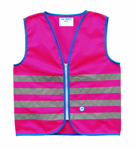 WOWOW Reflexweste Fun Jacket for Kids pink | Kinder | Größe: M
